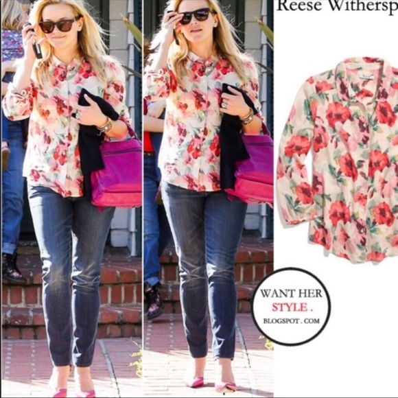 NWOT! MADEWELL Floral Top!